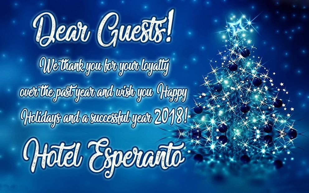 Welcome to hotel Esperanto!
